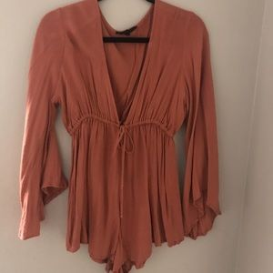 Oliviaceous Coral Romper